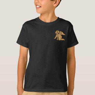 Camiseta Angélico elegante brilhante do anjo dourado do