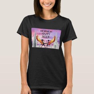 Camiseta Ângulos de happy hour do Mormon no fogo