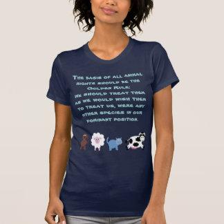 Camiseta Animais bonitos dos desenhos animados da regra de