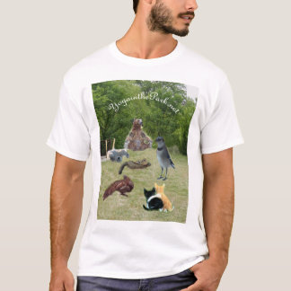 Camiseta animais no parque