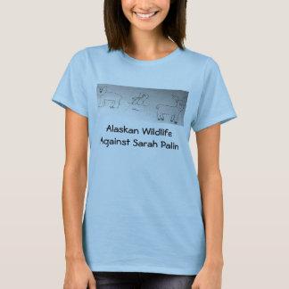 Camiseta Animais selvagens do Alasca contra Sarah Palin