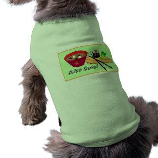 Camiseta Animal de estimação bonito/camiseta de cão do sush