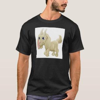 Camiseta Animal de fazenda bonito da cabra dos desenhos