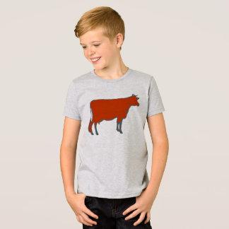 Camiseta Animal de fazenda vermelho do Barnyard da vaca do
