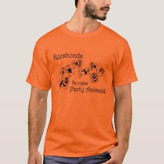 Camiseta Animal de partido do Keeshond