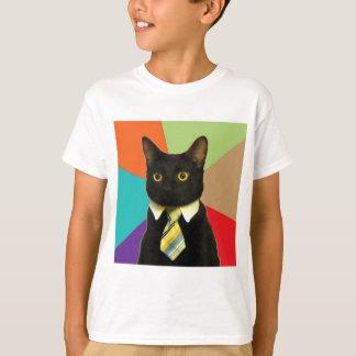 Camiseta Animal Meme do conselho do gato do negócio