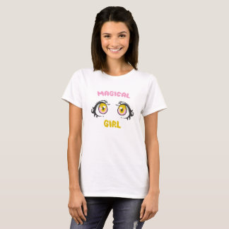 Camiseta Anime mágico da menina - o Anime eyes/Fandom de