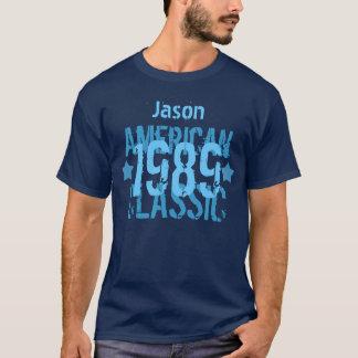Camiseta Aniversário 1989 ou ALGUM AZUL clássico americano