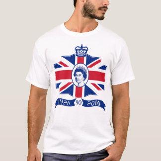 Camiseta Aniversário 2016 do 90 da rainha Elizabeth II