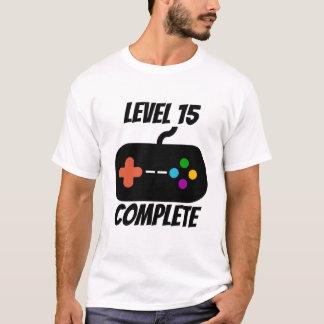 Camiseta Aniversário completo do nível 15 15o
