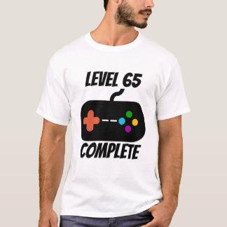 Camiseta Aniversário completo do nível 65 65th