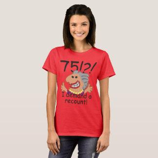 Camiseta Aniversário da descrição engraçada 75th