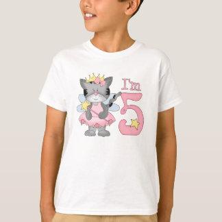 Camiseta Aniversário da princesa Gatinho 5o