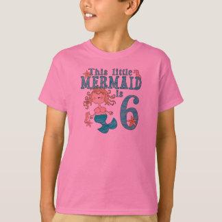 Camiseta Aniversário da sereia 6o