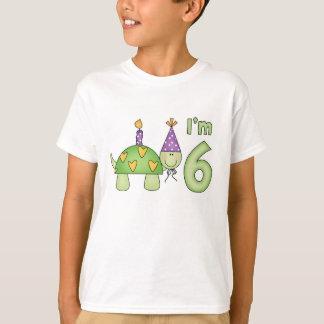 Camiseta Aniversário da tartaruga pequena 6o