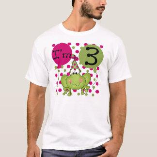 Camiseta Aniversário de 3 anos do sapo (rosa)
