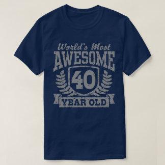 Camiseta Aniversário de 40 anos