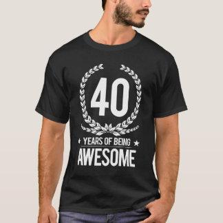 Camiseta Aniversário de 40 anos (40 anos de ser