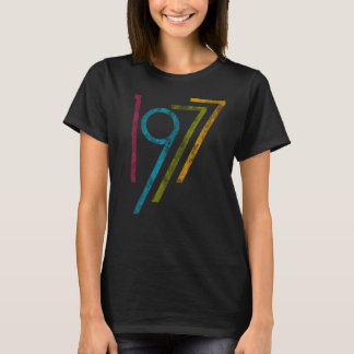 Camiseta Aniversário de 40 anos colorido do gráfico 1977 do