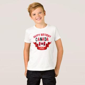 Camiseta Aniversário de Canadá do feliz aniversario 150th -
