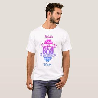 Camiseta Aniversário de casamento do laço tradicional de 13