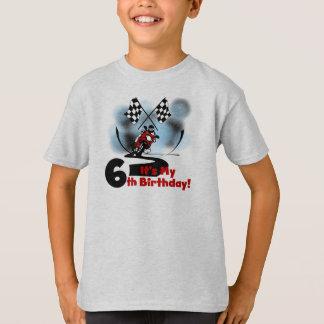 Camiseta Aniversário de competência da motocicleta 6o
