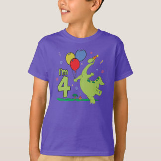 Camiseta Aniversário de Dino 4o