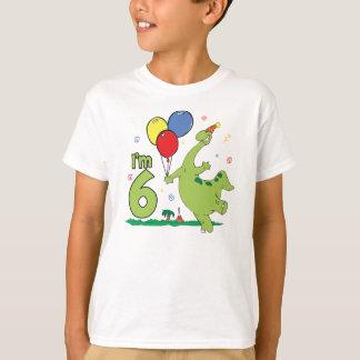 Camiseta Aniversário de Dino 6o