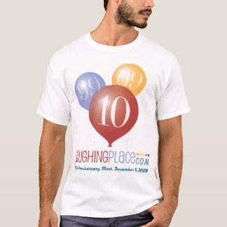 Camiseta Aniversário de LP 10o, parte dianteira/traseiro