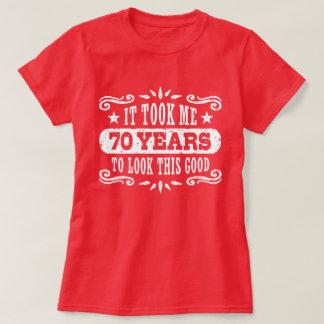 Camiseta aniversário do 70