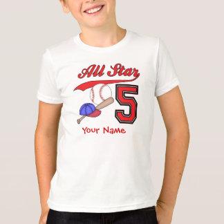 Camiseta Aniversário do basebol de All Star 5o