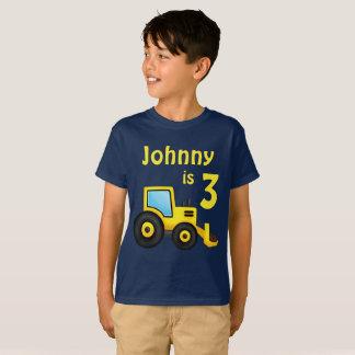 Camiseta Aniversário do caminhão da construção