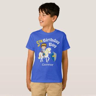 Camiseta Aniversário do cavaleiro medieval 5o