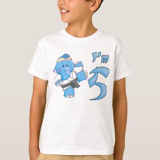 Camiseta Aniversário do karaté do elefante 5o