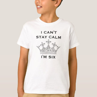Camiseta Aniversário do miúdo do divertimento o 6o eu não