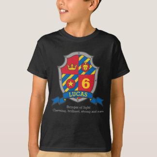 Camiseta Aniversário do significado conhecido de Lucas o 6o