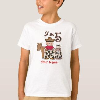 Camiseta Aniversário do vaqueiro 5o