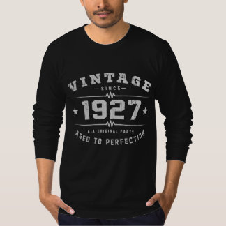 Camiseta Aniversário do vintage 1927