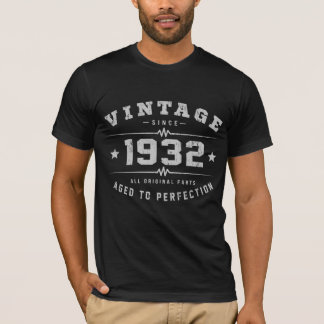 Camiseta Aniversário do vintage 1932