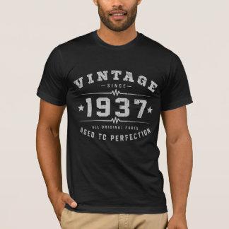 Camiseta Aniversário do vintage 1937