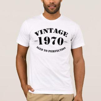 Camiseta Aniversário do vintage 1970 envelhecido à