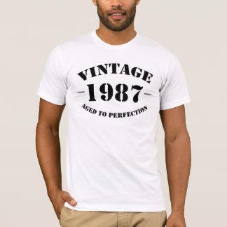 Camiseta Aniversário do vintage 1987 envelhecido à