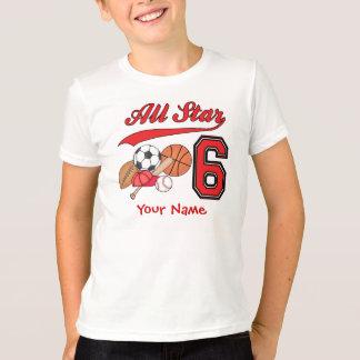 Camiseta Aniversário dos esportes de All Star 6o