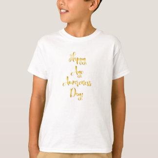 Camiseta Aniversário engraçado do ouro feliz do dia da
