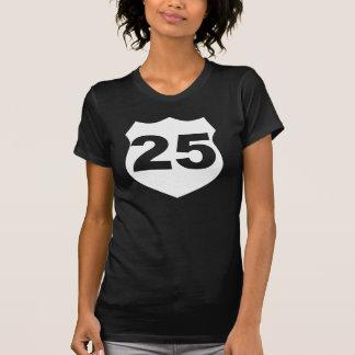 Camiseta ANIVERSÁRIO preto & branco do sinal de ESTRADA #25