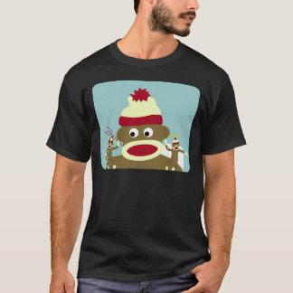 Camiseta Anjo & diabo do macaco da peúga