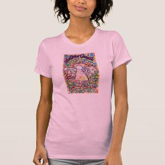 Camiseta Anjo dos corações do primavera & que cancer não