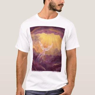 Camiseta Anjo em nuvens malva
