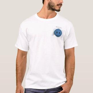 Camiseta Anjo feliz azul da cara