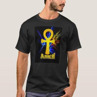 Camiseta Ankh com relâmpago do Fractal
